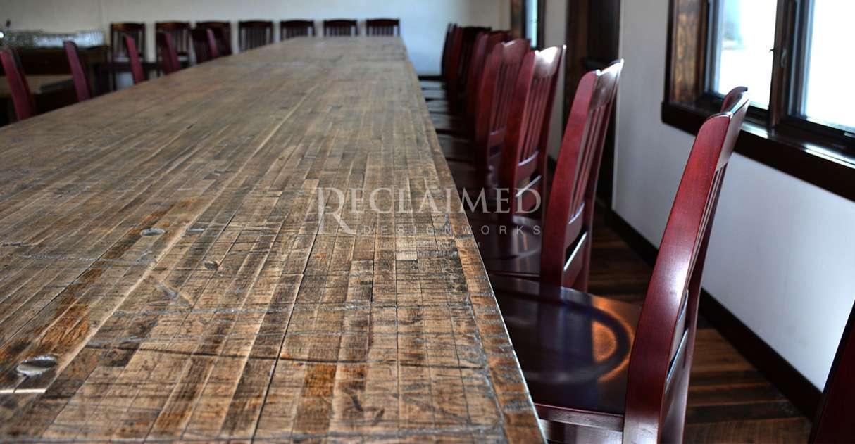 Reclaimed boxcar train flooring floor matttroy for Raw wood flooring